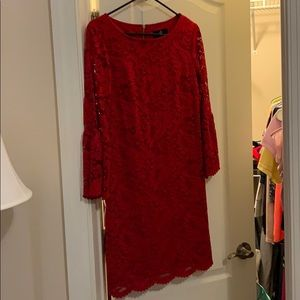 Ronnie Nicole Red Lace Dress